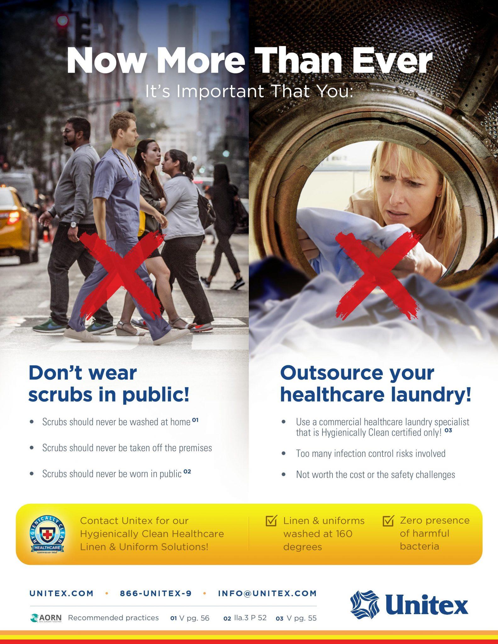 don't wear scrubs in public